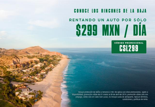 Conoce todos los rincones de la Baja Rentando un auto por sólo $299MXN día