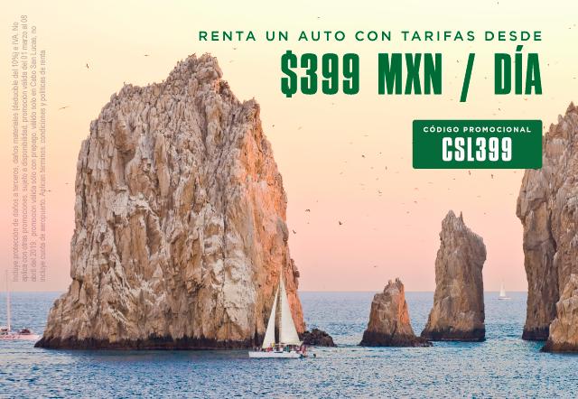 ¡Renta un auto con tarifas desde $399MXN/día!