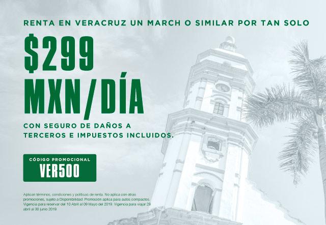 Renta March por $299 MXN con seguro de daños a terceros  e impuestos incluidos