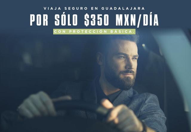 Estás reservando un auto COMPACTO por $350 MXN, con protección básica incluida. Válido en rentas del 1ro al 30 de junio de 2020.